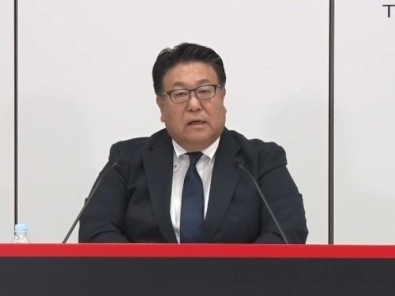 図2 ホンダ副社長の倉石誠司氏  (オンライン会見の画面をキャプチャー)