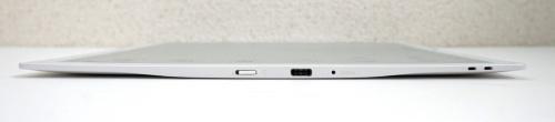 クアデルノの側面。一番厚みのある部分が、USB Type-Cのコネクターに近いサイズだ