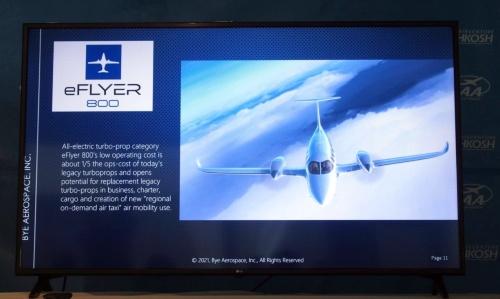 バイ・エアロスペースの「eFlyer 800」