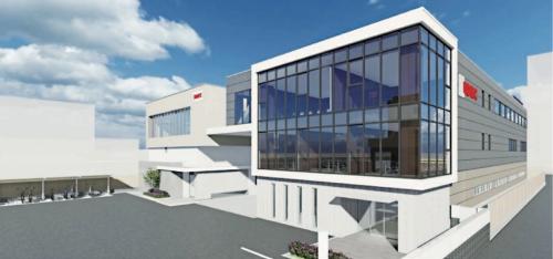 図2 2022年4月の稼働を予定している新本社屋