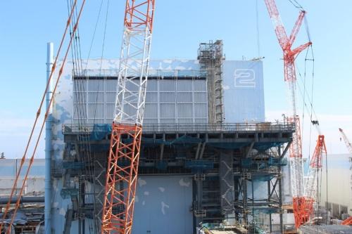 2号機では地下の構造物の解体などを進めている(写真:東京電力ホールディングス)