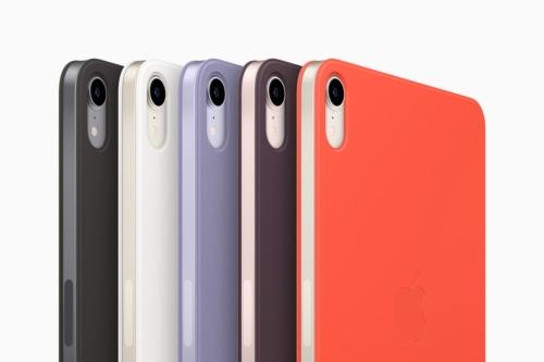 Smart Folioのカラーはブラック、ホワイト、イングリッシュラベンダー、ダークチェリー、エレクトリックオレンジが用意されている