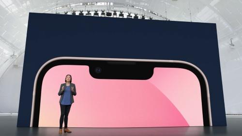 iPhone 13シリーズの画面上部にあるノッチ(切り欠き)が、従来のモデルよりも20%小さくなっている