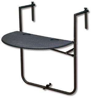 図11 武田コーポレーションのガーデンテーブル。バルコニーやベランダの手すりに固定する。実勢価格は約4000円