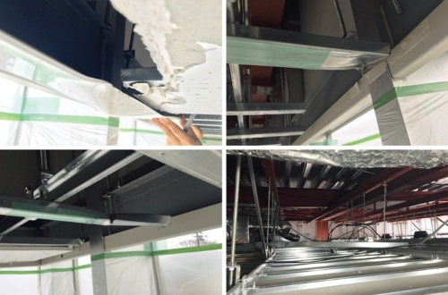 〔写真1〕エントランスホールの天井が損傷