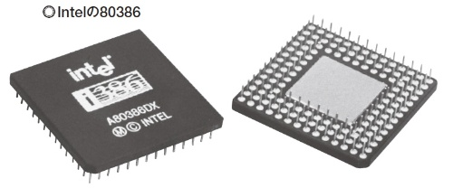 図1 Intel初の32ビットCPU。仮想メモリー管理機能に対応し、メモリーコントローラーを混載した。浮動小数点演算コプロセッサーを統合。80286と異なり、メモリー保護機能も使いやすかった。32ビット命令は、現在も引き続き使われている。いわゆるIA(インテルアーキテクチャー)の基盤となったCPUである。