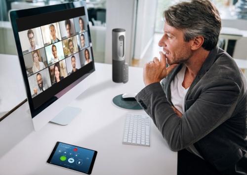 Zoomを使ったビデオ会議のイメージ