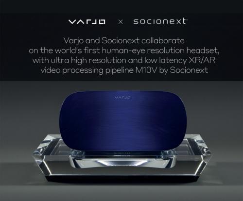 協業で開発中のVR/ARヘッドセット。ソシオネクストとVarjoのイメージ