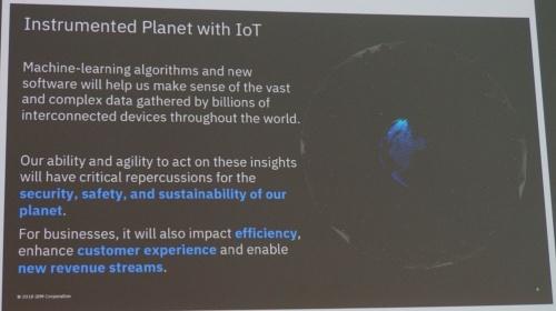 Watson IoTの狙いと概要。IBMのスライド