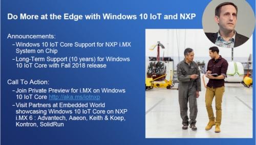 「Windows 10 IoT Core」が「i.MX 6」と「i.MX 7」で使えるようになった。