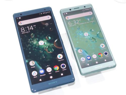 写真1●Xperia XZ2(左)とXZ2 Compact(右)