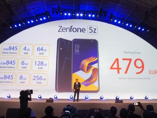 写真5●ZenFone 5Zは税込479ユーロから
