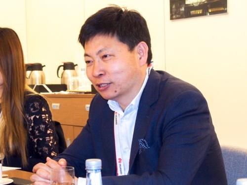 写真1●ファーウェイ コンシューマー事業部門CEOのリチャード・ユー氏(撮影:山口 健太、以下同じ)