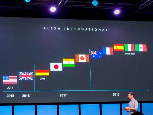写真2●Alexaの海外展開状況