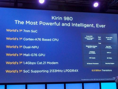 新しいSoC「Kirin 980」の特徴