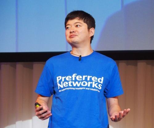 講演するPFNの西川氏(撮影:日経 xTECH)