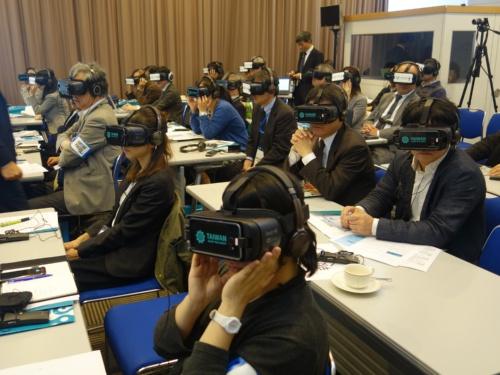 「台湾スマートものづくり VR特別記者会見」の会場の様子