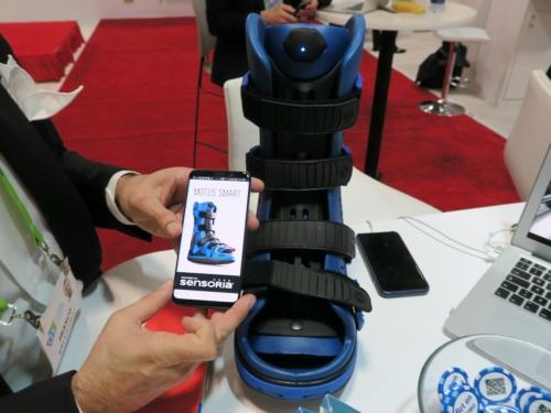 足潰瘍の治療に向けたIoTブーツ「MOTUS Smart」
