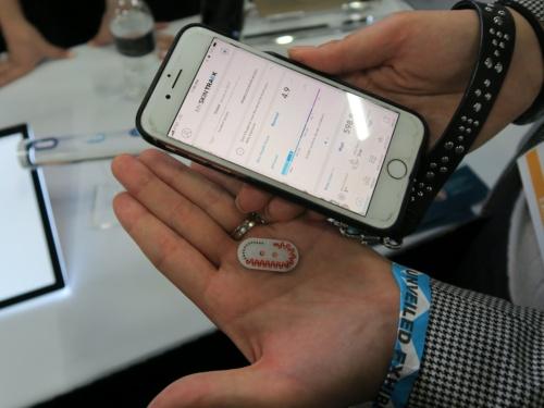 ロレアルが展示した皮膚のpHセンサー