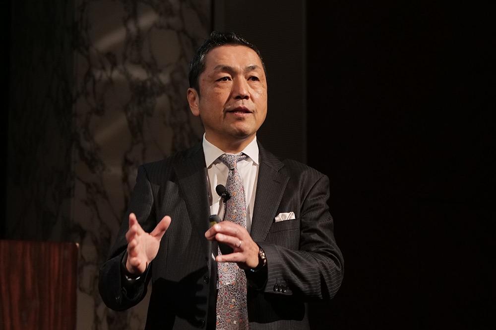SOMPOホールディングス グループCDO・常務執行役員の楢﨑浩一氏 (撮影:新関 雅士)