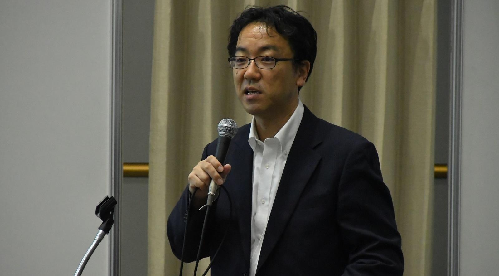 経済産業省の和泉憲明氏 (撮影:渡辺 可緒理)