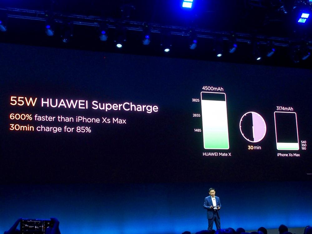 写真10●超急速充電「HUAWEI SuperCharge」は55Wに対応