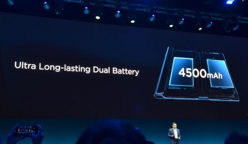 図1 電池容量は4500mAh