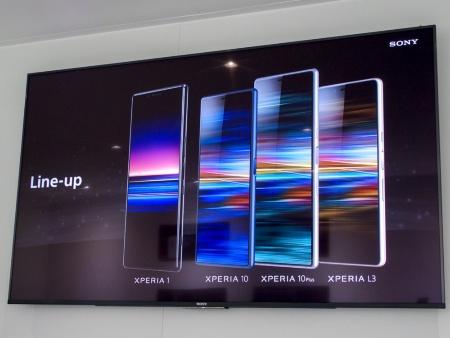 写真1●ソニーモバイルが「Xperia 1」など新製品を発表