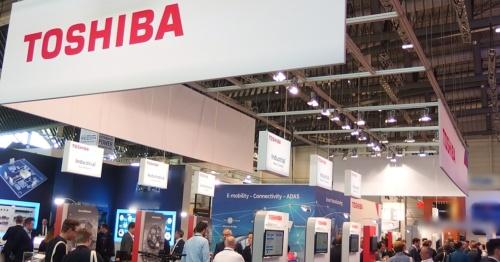 Toshiba Electronics Europeのブース。日経 xTECHが撮影