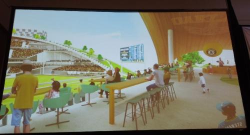アスレチックスが紹介した新スタジアムのイメージ図