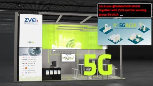 5G-ACIAの展示ブースのイメージ(出所:Deutsche Messe)