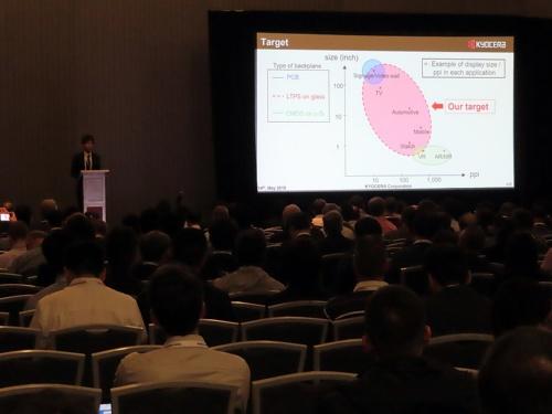 図1 京セラの発表が行われた、シンポジウム初日のマイクロLEDセッションの様子