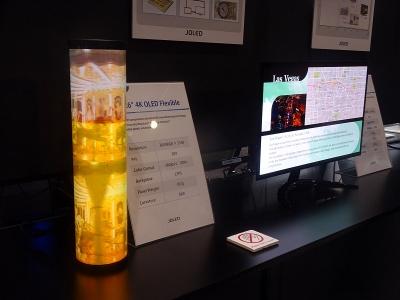 図1 JOLEDのインクジェット有機ELディスプレーの展示