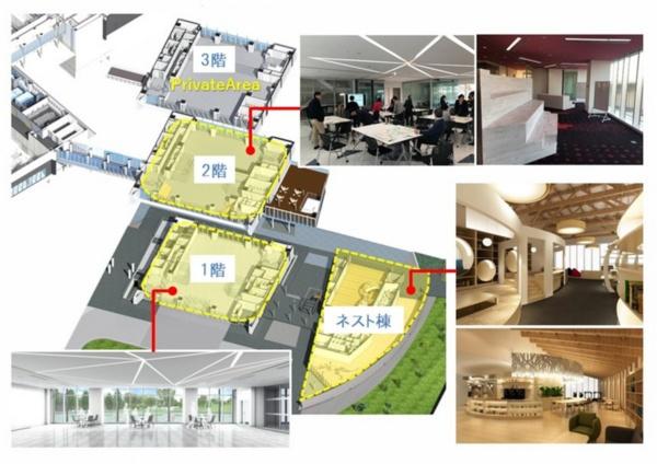 前田建設工業のICI総合センター。様々な施設が、協業するベンチャー企業の社員にも開放されている(資料:前田建設工業)