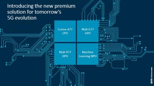 5G対応スマートフォンに搭載するSoCへの集積を狙って、4種類のプロセッサーコアを発表。Armのスライド