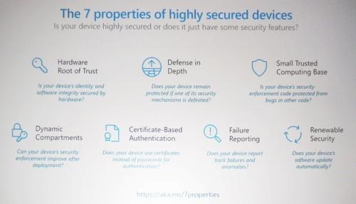 セキュリティー担保に向けた7つの仕様。Microsoftのスライド