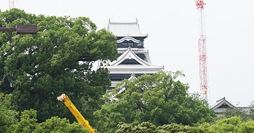 2016年の熊本地震で大きな被害を受けた熊本城の修復が進む