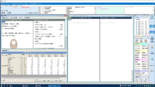 医事一体型電子カルテシステム「Medicom-HRf」の画面イメージ(出所:PHC)