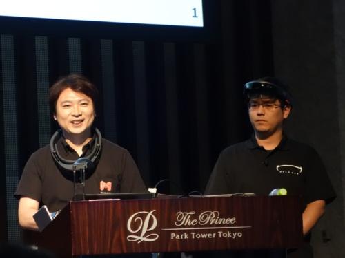 SB C&S ICT事業本部MD本部AR/VR/MRソリューション担当の遠藤文昭氏(写真左)と、ホロラボ代表取締役CEOの中村薫氏(同右)