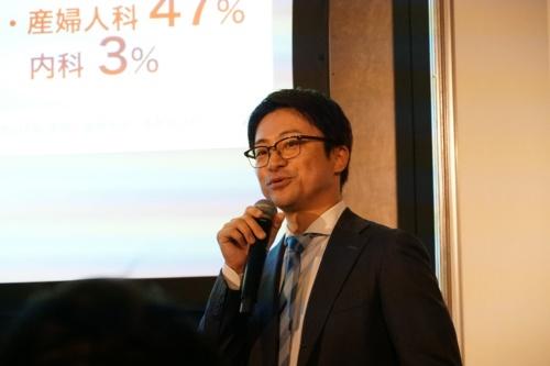 講演するソフトバンクデジタルトランスフォーメーション本部ビジネスストラテジストの大石怜史氏