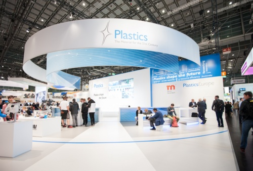 K2019のスペシャル・ショー「プラスチックが未来を形づくる」のブース      写真:Mari Kusakari(草刈麻里)