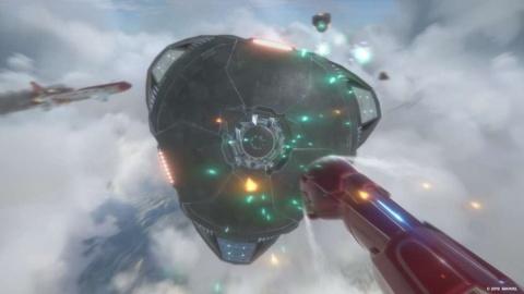攻撃シーン。『マーベルアイアンマン VR』の発売日は未定だが、発売時期は2019年と発表されている。(c) 2019 MARVEL (c) 2019 Sony Interactive Entertainment LLC. Developed by Camouflaj, LLC
