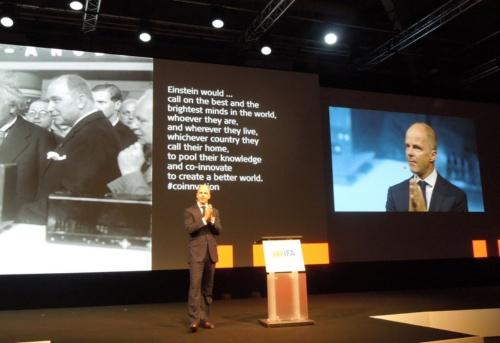 coinnovationの必要性を説いたドイツMesse Berlin CEOのクリスチャン・ゲーケ氏