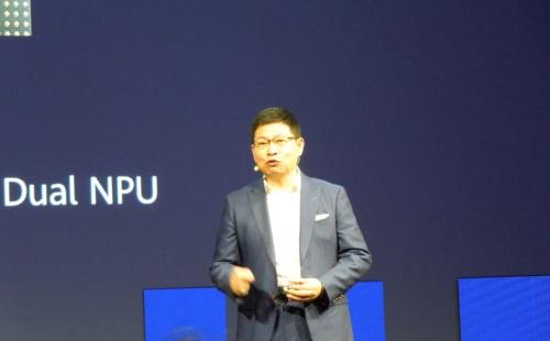 IFA 2019で基調講演のトップバッターを務めた、中国ファーウェイ(華為技術)のConsumer Business Group CEOのRichard Yu氏(写真:日経 xTECH)