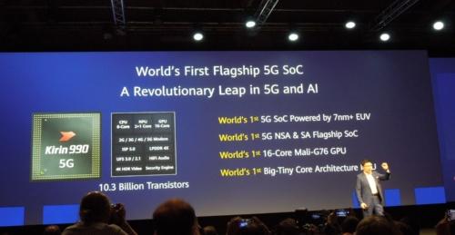 Kirin 990 5Gの技術概要(写真:日経 xTECH)