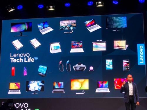写真1 レノボはIFA 2019でスマートフォンやPCの新製品を発表した(撮影:山口 健太、以下同じ)