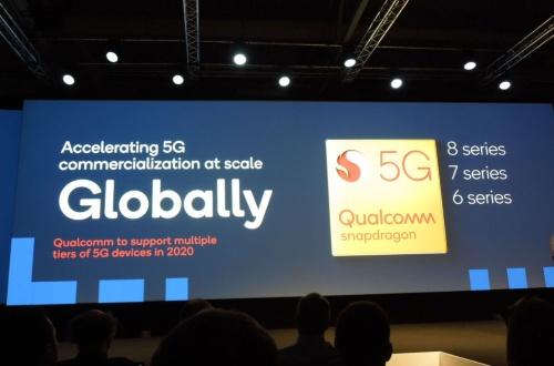 2020年にはハイエンド向けのSnapdragon 8シリーズからミッドレンジ向けの同7シリーズ、さらに普及価格帯向けの6シリーズで5Gをサポートするという