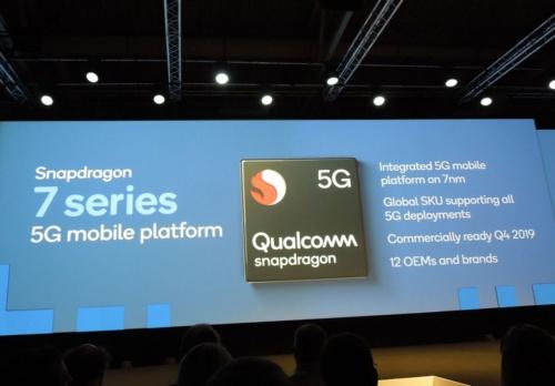 5Gモデムを内蔵する次期Snapdragon 7シリーズの概要