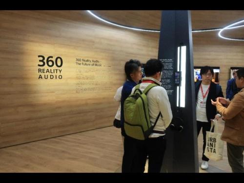 360 Reality Audioのブース風景