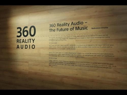 360 Reality Audioについての説明パネル